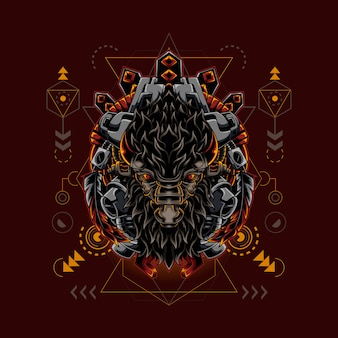 Geometria sacra bison cyborg style