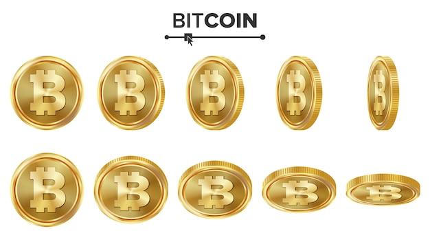 Bitcoin 3d monete d'oro