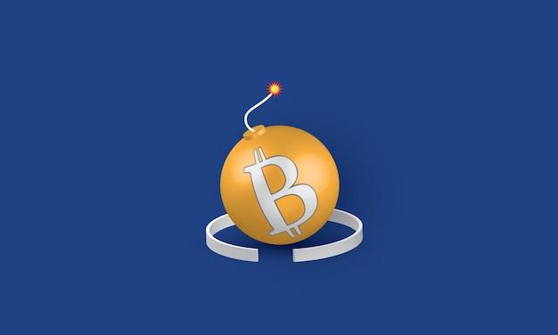 Bitcoin come bomba problema aziendale concetto di ispirazione business