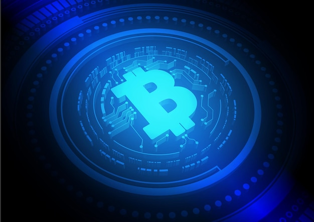 Priorità bassa di tecnologia del circuito bitcoin con sistema di connessione dati digitali hitech