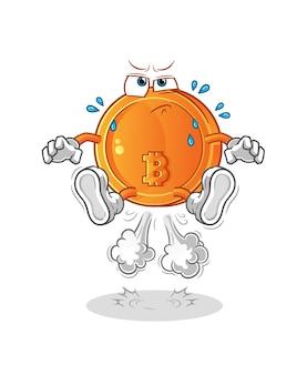 Bitcoin scoreggia illustrazione di salto