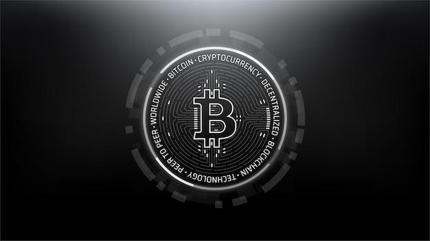 Bitcoin futuristic scifi technology cryptocurrency