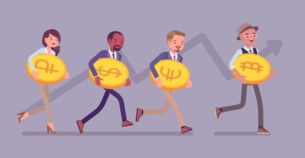 Sviluppo del successo di bitcoin e altro