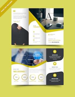 Modello di brochure flyer di biz