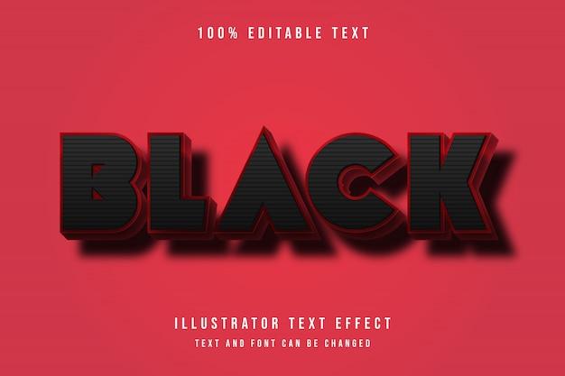 Nero, stile di testo modificabile 3d effetto nero moderno modello di ombra