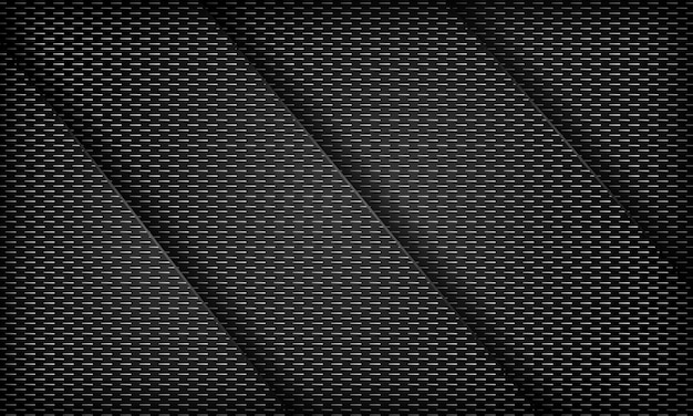 Sfondo nero astratto sovrapposto con trama a strisce modello di design aziendale moderno