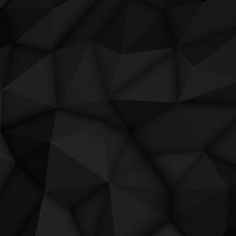 Fondo poligonale astratto nero