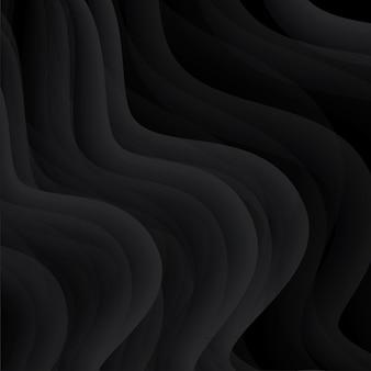 Sfondo nero. sfondo di onde scure
