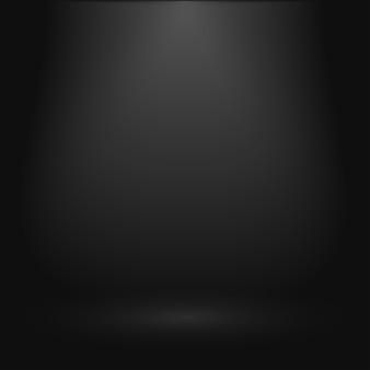 Sfondo nero per presentazione, display prodotto, showroom vuoto con riflettori.