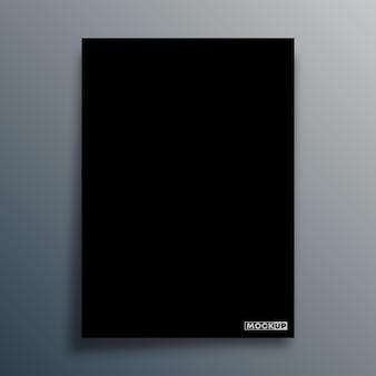 Modello di sfondo nero per il mockup