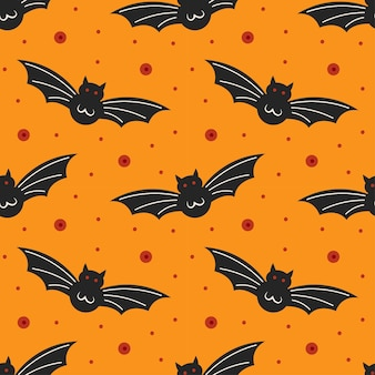 Pipistrelli neri. modello senza cuciture felice di halloween