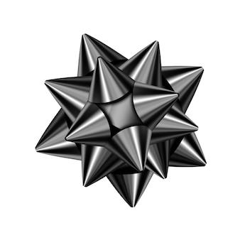 Fiocco nero isolato su sfondo bianco per il design di vendita venerdì nero. elemento di arredo realistico vettoriale per banner, biglietti da visita, poster.