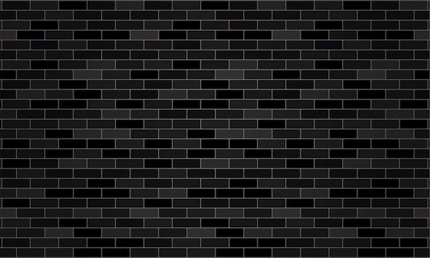 Sfondo di mattoni e texture di sfondo nero