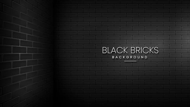 Sfondo di mattoni neri