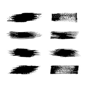 Elemento tratto pennello nero