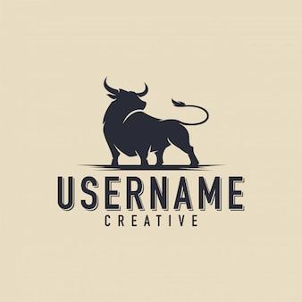 Logo di toro nero