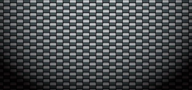 Sfondo nero modello in fibra di carbonio