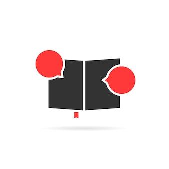 Icona nera del libro di classe come un libro di fumetti. concetto di opuscolo, nuove informazioni, emblema insolito, diario, storia di supereroi, università. stile piatto tendenza logo moderno design grafico arte su sfondo bianco