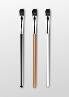 Pennelli per ombretto correttore trucco professionale nero pulito