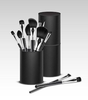 Pennelli per sopracciglia ombretto in polvere per correttore nero pulito professionale per trucco