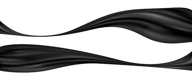 Panno nero su sfondo bianco illustrazione vettoriale