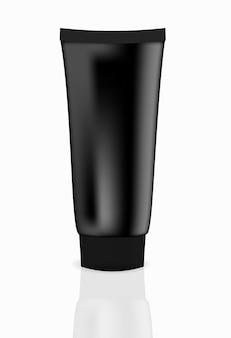 Illustrazione vettoriale di tubo crema nera