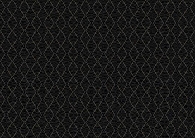 Modello senza cuciture diamante nero Vettore Premium