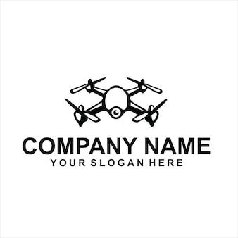 Vettore logo drone nero