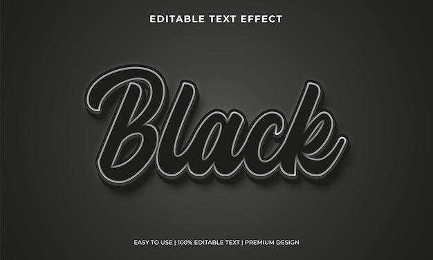 Effetto testo modificabile nero