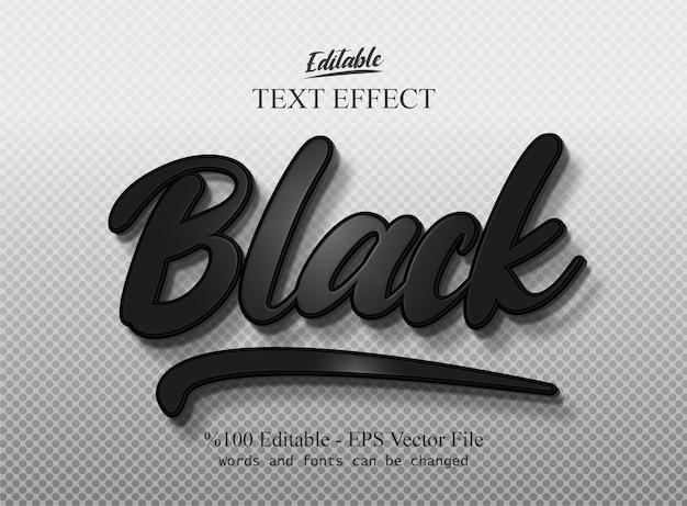 Vettore di effetto di testo modificabile nero