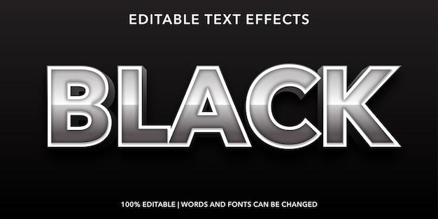 Effetto di testo modificabile nero