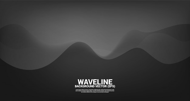 Sfondo nero forma curva fluida. concept design per fluide opere d'arte futuristica e stile onda fluida