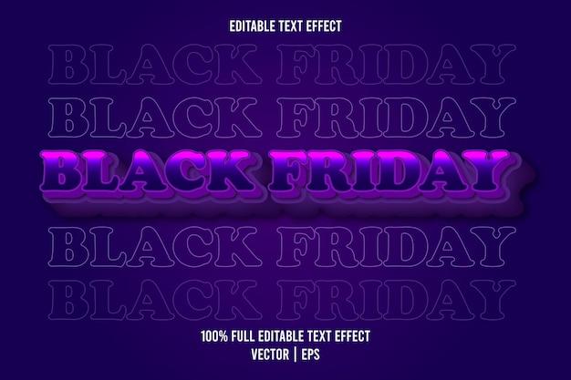 Black friday 3 dimensioni effetto testo modificabile colore viola