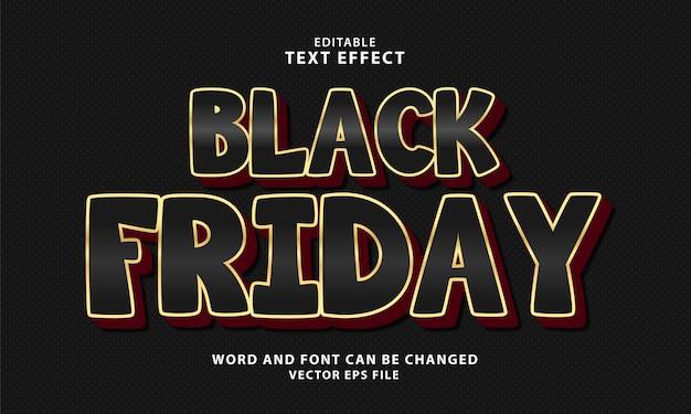 Effetto di testo modificabile 3d black friday