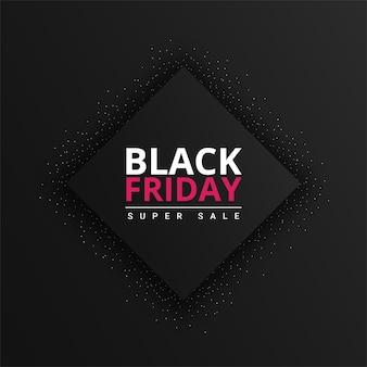 Sfondo del venerdì nero con sfumatura nera vettore premium