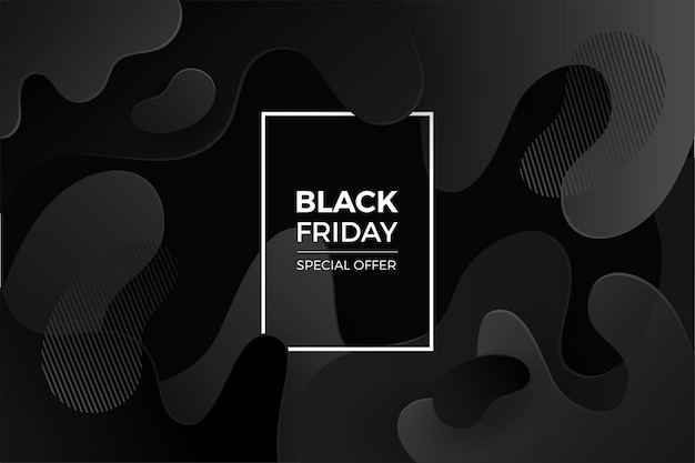 Sfondo venerdì nero con sfumatura nera