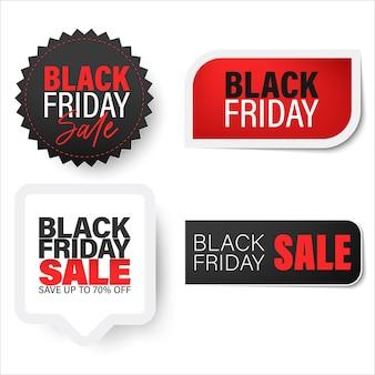 Modello di badge e banner venerdì nero