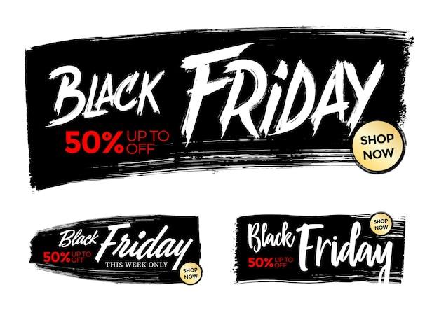 Banner venerdì nero per pubblicità e promozione.