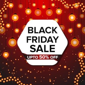 Modello di progettazione banner venerdì nero per la promozione