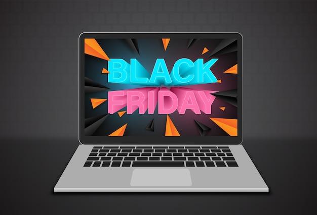 Modello struttura banner venerdì nero