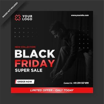 Banner del black friday instagram e social media post design