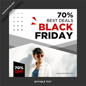Black friday banner instagram e social media post design