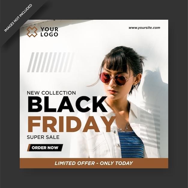 Black friday banner instagram e social media post design