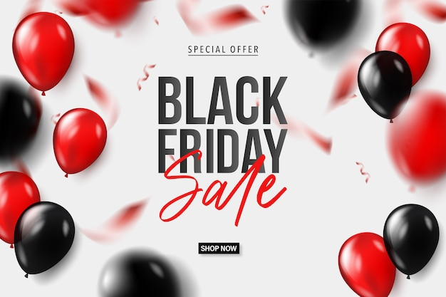 Banner del venerdì nero per la vendita dello shopping