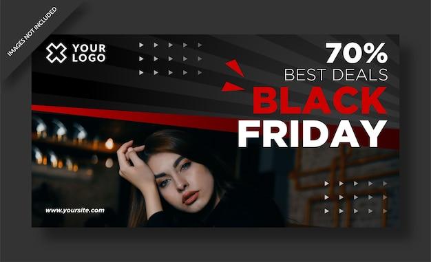Banner del venerdì nero e post sui social media
