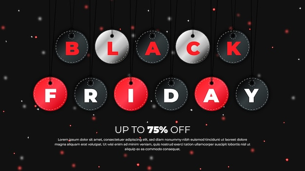 Modello di banner del black friday