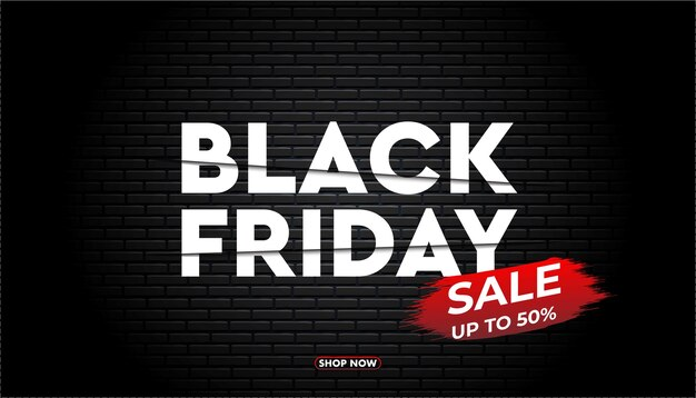 Modello di banner del black friday.