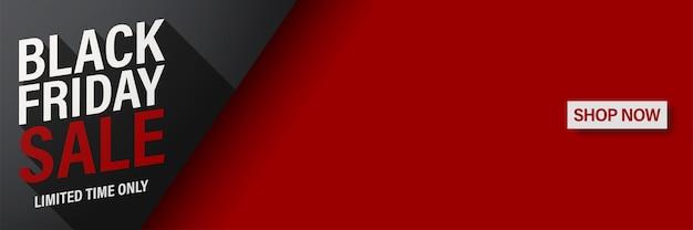 Modello di banner venerdì nero