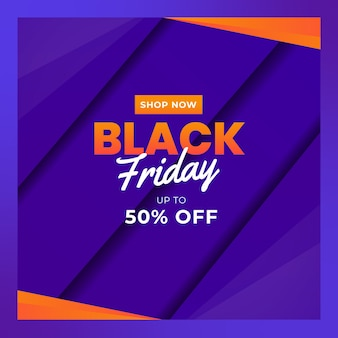 Modelli di banner del black friday per i social media