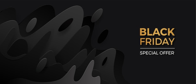 Banner del venerdì nero con sfumatura nera